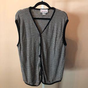 Diane Von Furstenberg VTG Sweater Vest (L)